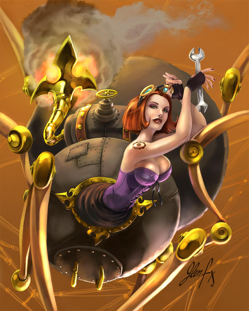 Steampunk Spider Woman by Axigan