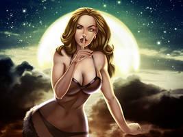 Moon girl by Axigan
