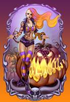 Pumpkin pastel goth Halloween girl by Axigan