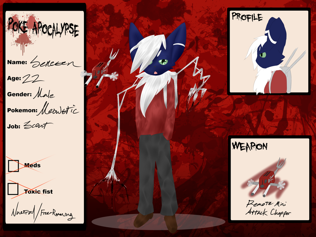 .:Poke-Apocalypse:. Senesen Leclair by xAuraSolarisx