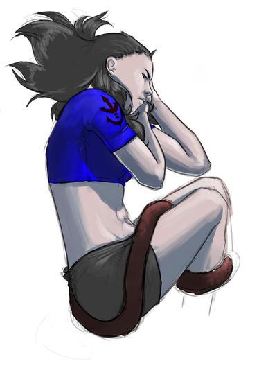 Angry teen Kida by kitsuK8