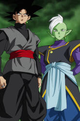 Black Goku (Me) And Zamasu (VegetaSsj03)