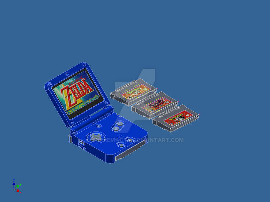 GBA SP by supremacyx