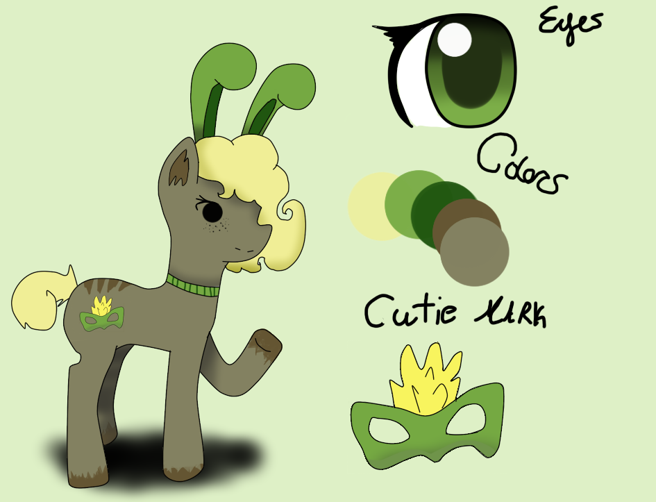 Ellamask Pony OC by AskSabertooth