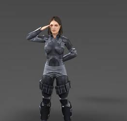 Miranda Keyes - Officer Training