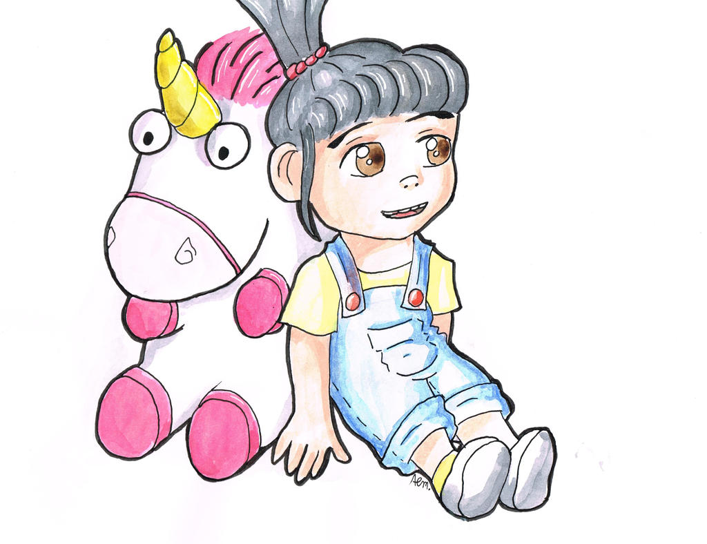 Despicable Me - Agnes and the fluffy unicorn by LilliNonameDespicable Me Unicorn Drawing