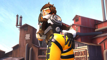 Tracer's ass by MichKon
