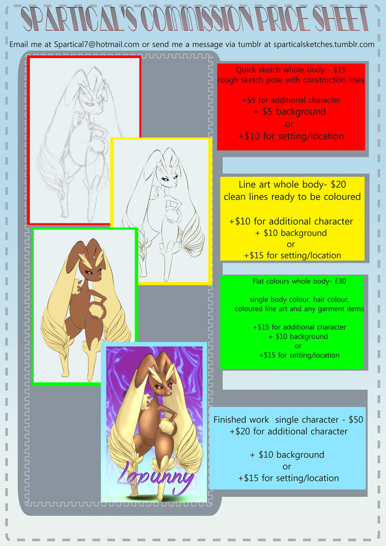 Commission pricing sheet by spartical-7