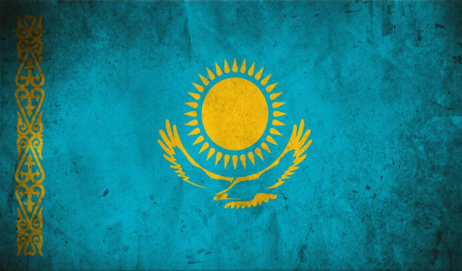 Обои на рабочий стол флаг казахстана