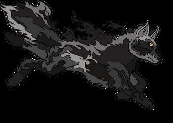 Wolf Fire by SilverandZuko
