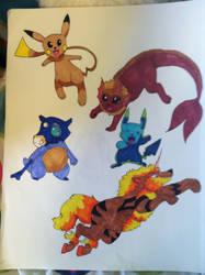 Pokemon Fusion by SilverandZuko