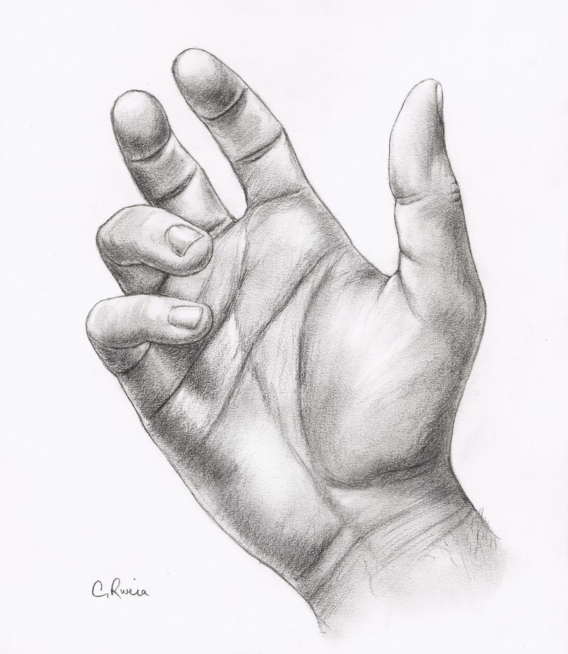 creative hand drawings - 736×846