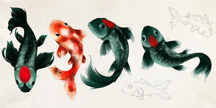 Fishes XD by batang-alien