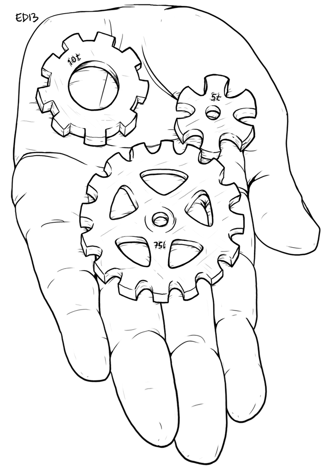 Hand Holding Cogs by edmcd