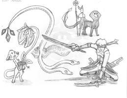 Rando's Sketches 14 by Vaguescribbles