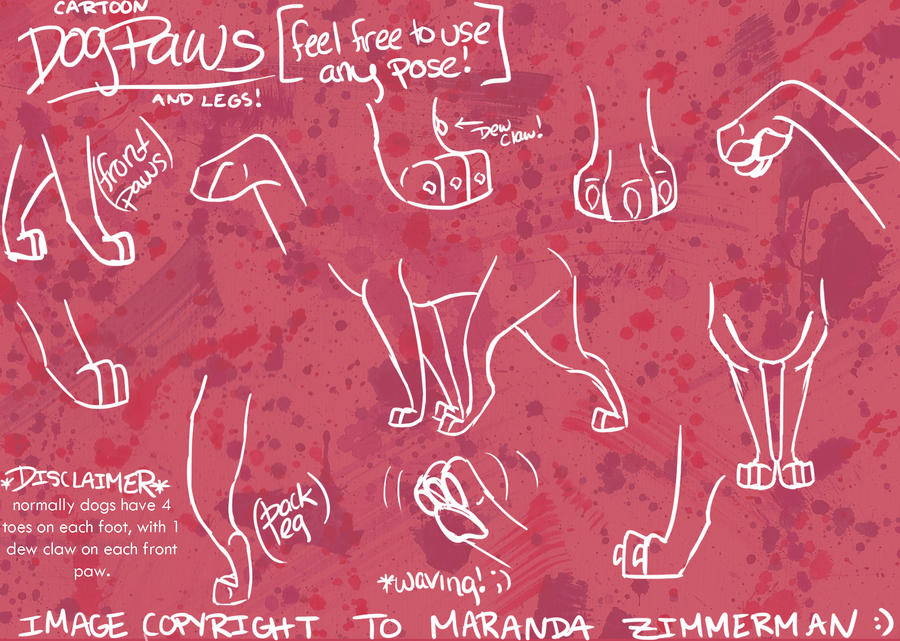 Cartoon Dog Paws and Legs by Coloran on DeviantArt