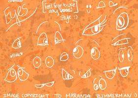 Cartoon Eyes by Coloran
