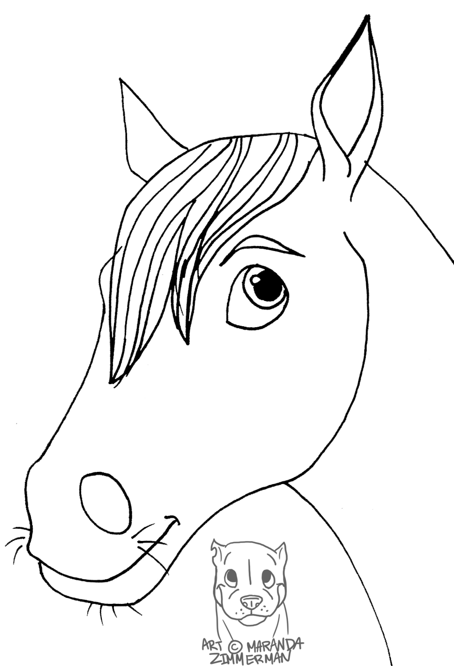 Horse Face Line Drawing : Horse face by coloran on deviantart