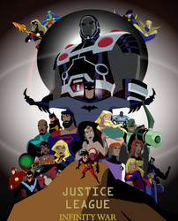 JUSTICE LEAGUE INFINITY WAR POSTER