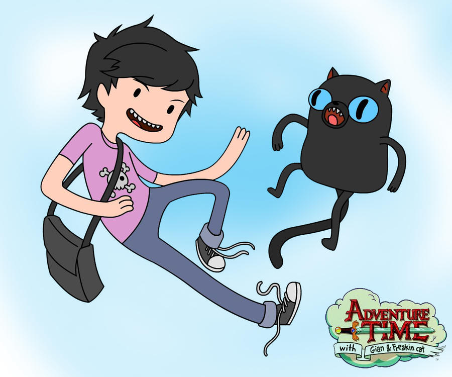 The Adventure Time With Gian And Freakin Cat By Ar Jaey On DeviantArt