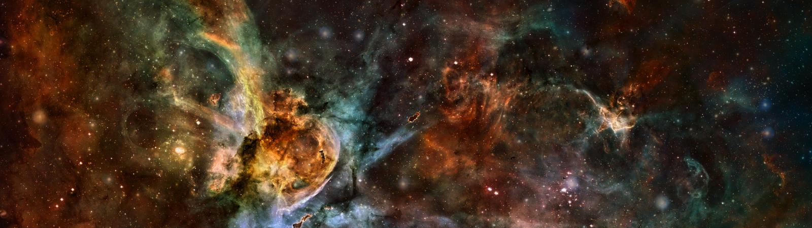 Carina Nebula meets COSMOS field by Phaze-Phusion