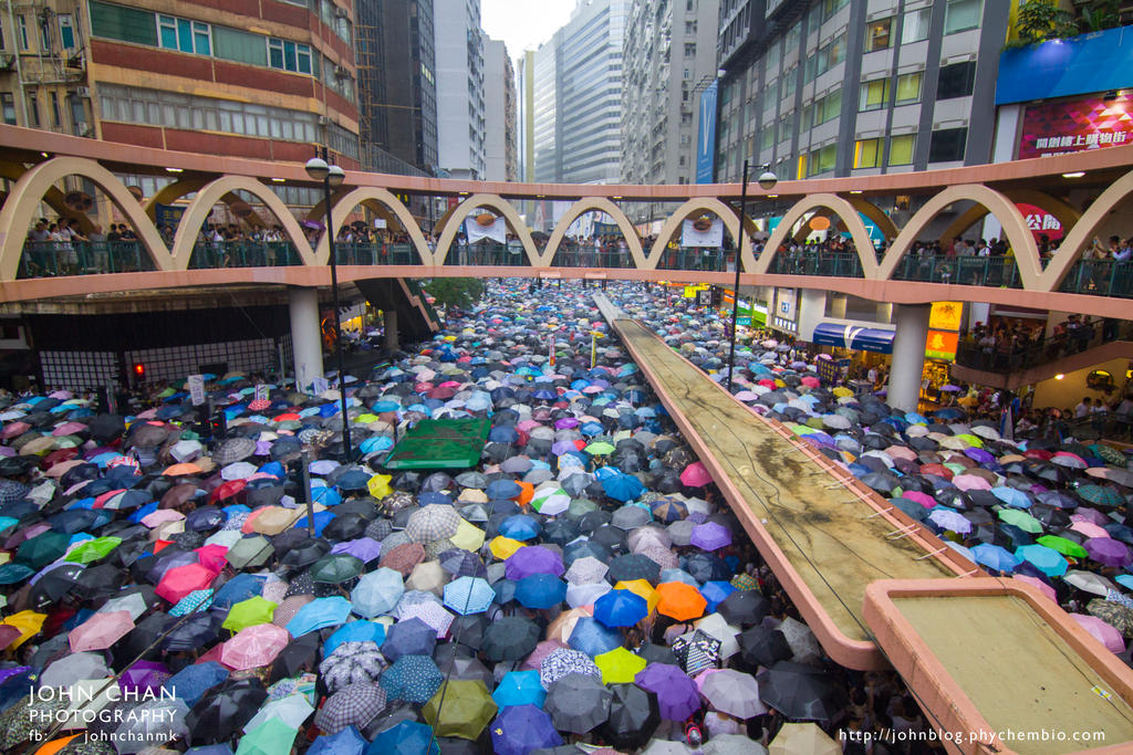 Hong Kong democracy Protest by johnchan
