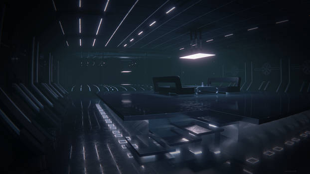 Scifi room, lights on