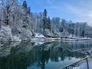 Snowy spring | Austria | Graz | Hilmteich