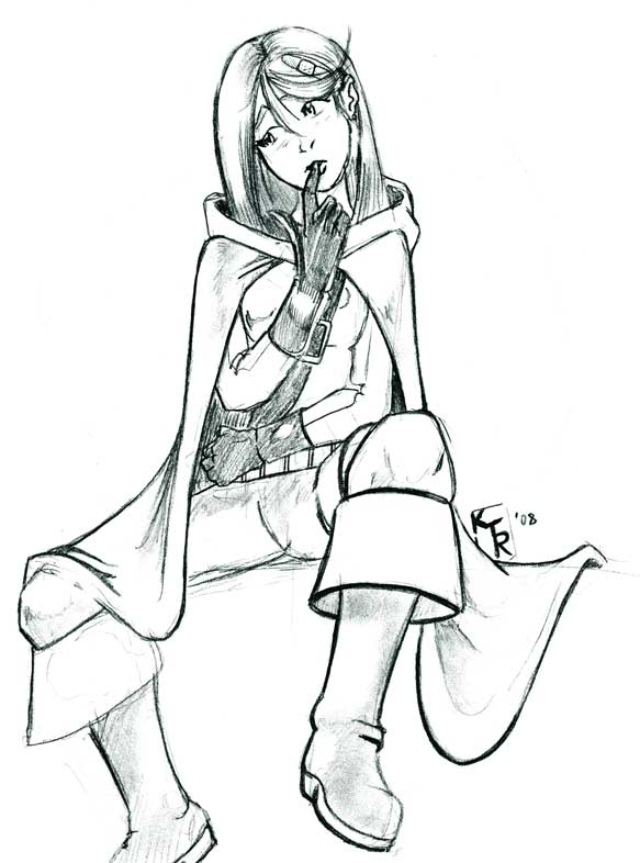 Stephanie Brown Spoiler Sketch by Kaon-Lowe