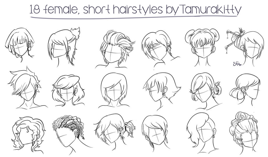 18 Female Short Hairstyles By Cosmic-Candy-Shop On DeviantArt