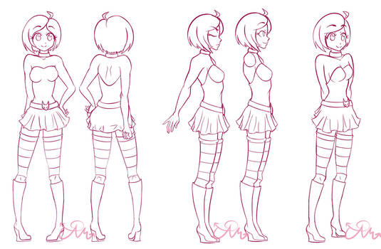 Character Turnaround by Cosmic-Candy-Shop