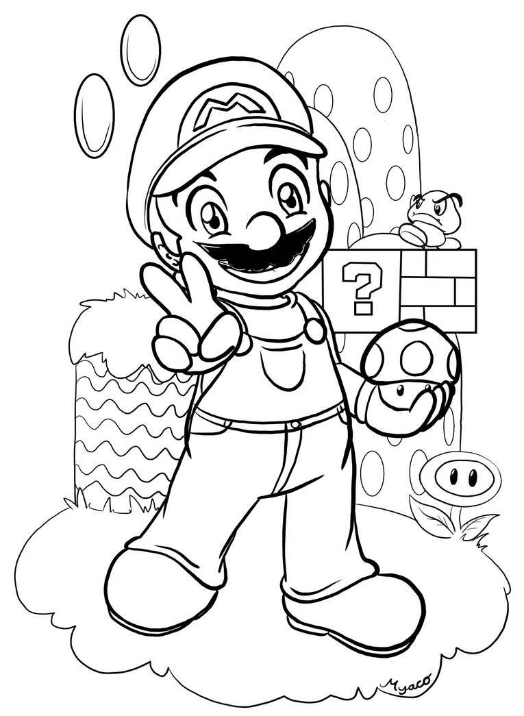 Color mario by myaco on deviantart for What color is mario