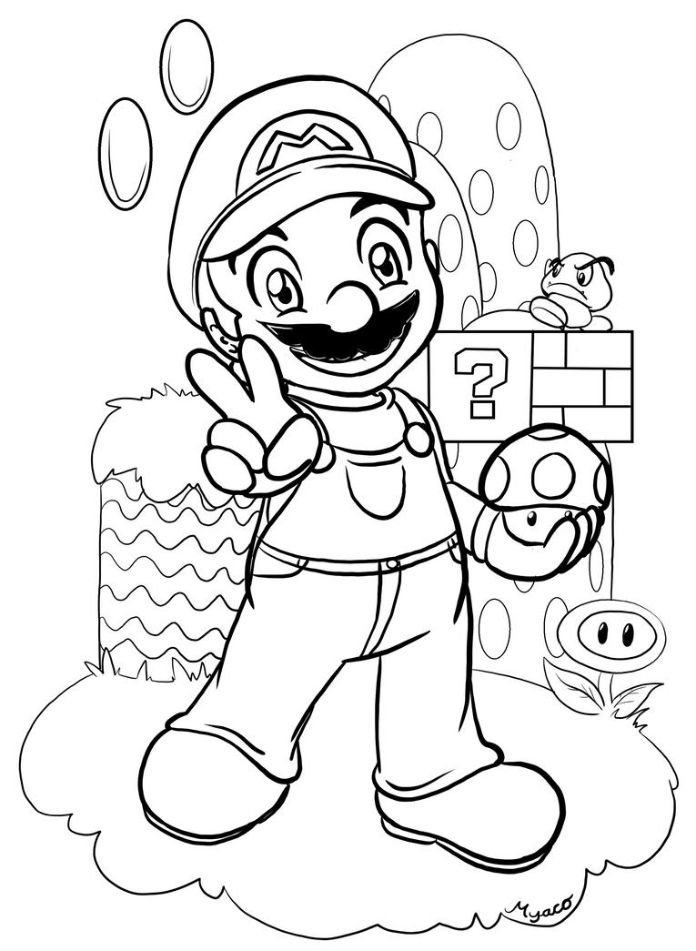 Color Mario by Myaco on DeviantArt