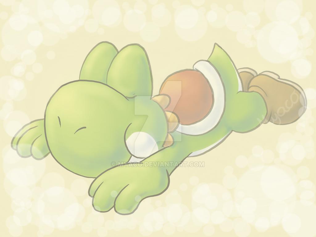 sleeping Yoshi by Myaco