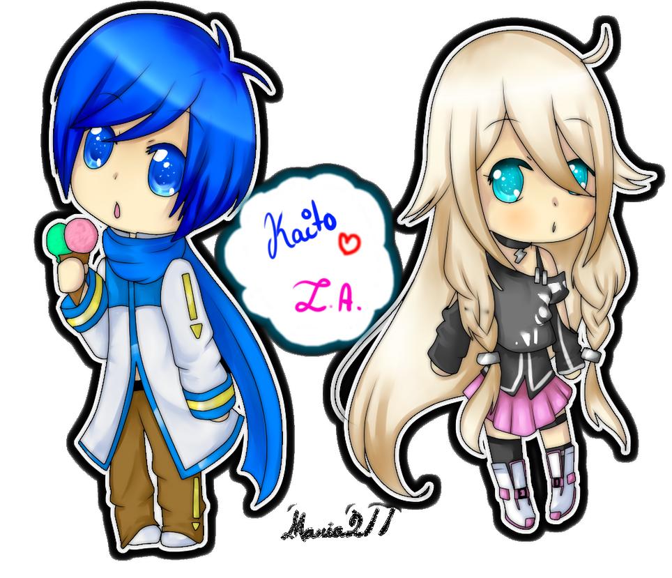 Kaito And IA Chibi By Yen Mi