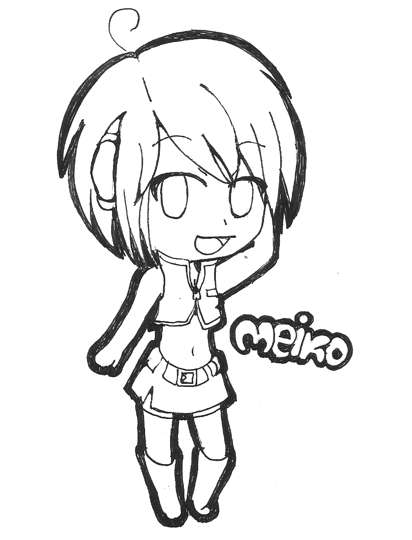 traditional vocaloid meiko chibi by yen mi on deviantart