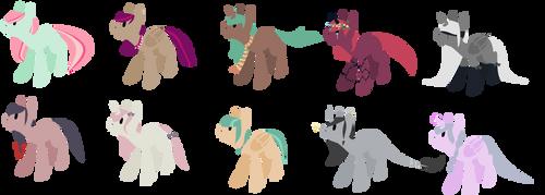 Lineless pony adopts OTA [closed] by MagicalChocolate