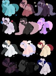 Lineless pony adopts OTA [open 12/12] by MagicalChocolate