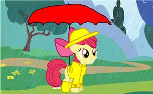 Apple Bloom in the Rain