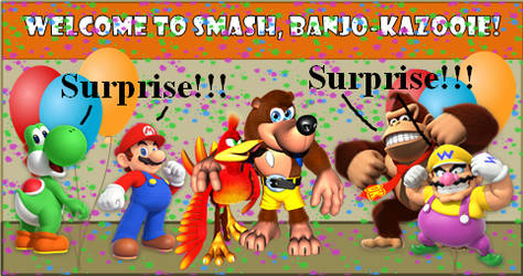 Banjo-Kazooie Join the Battle!
