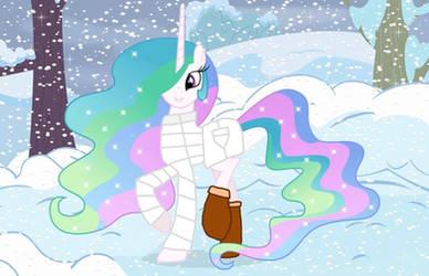 Princess Celestia in the Snow