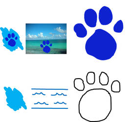 THE COLOR BLUE THE OCEAN A HUGE PAWPRINT