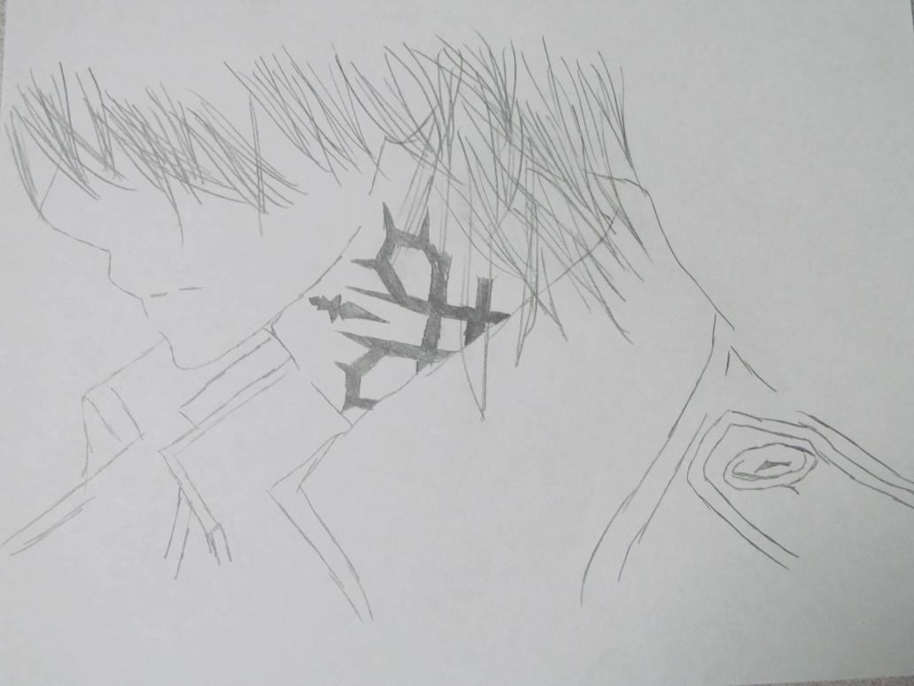 Line Art Zero : Zero kiryu s tattoo vampire knight by graceful nightmare on