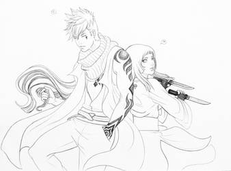 Kawaki and Haruka_OC by Warrior-of-Ruin