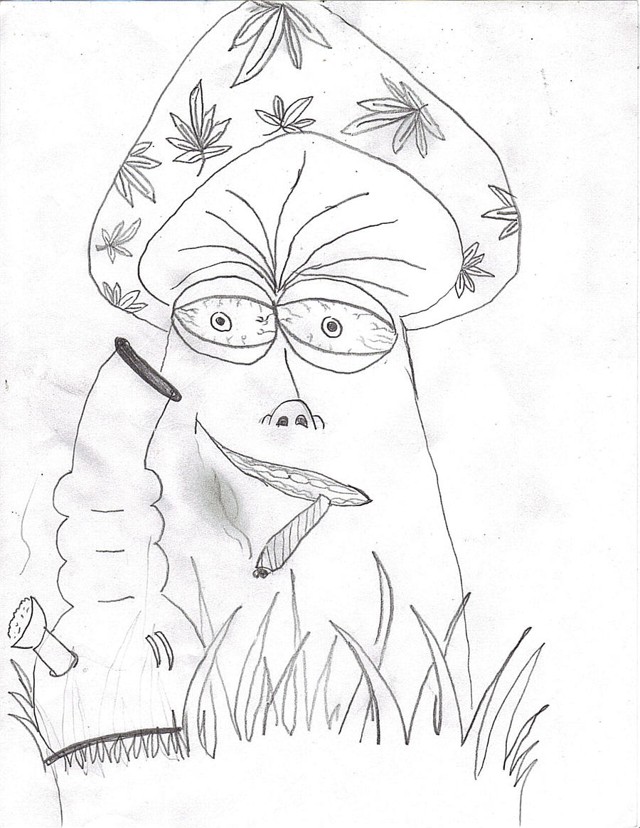 stoner trippy weed coloring pages - photo#8