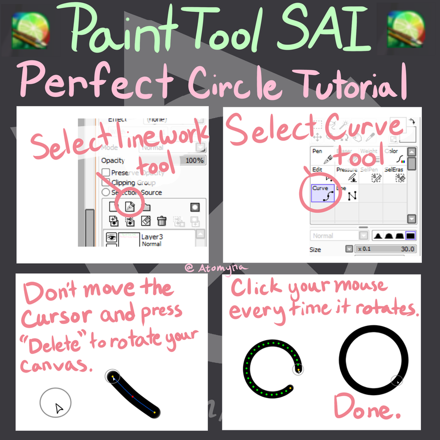 how to make circles in sai