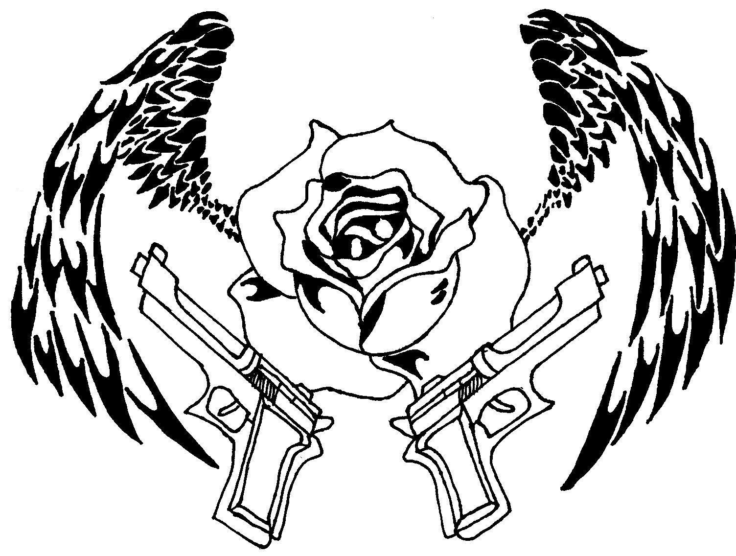 Guns and Roses by 44-magnum-vampire on DeviantArt