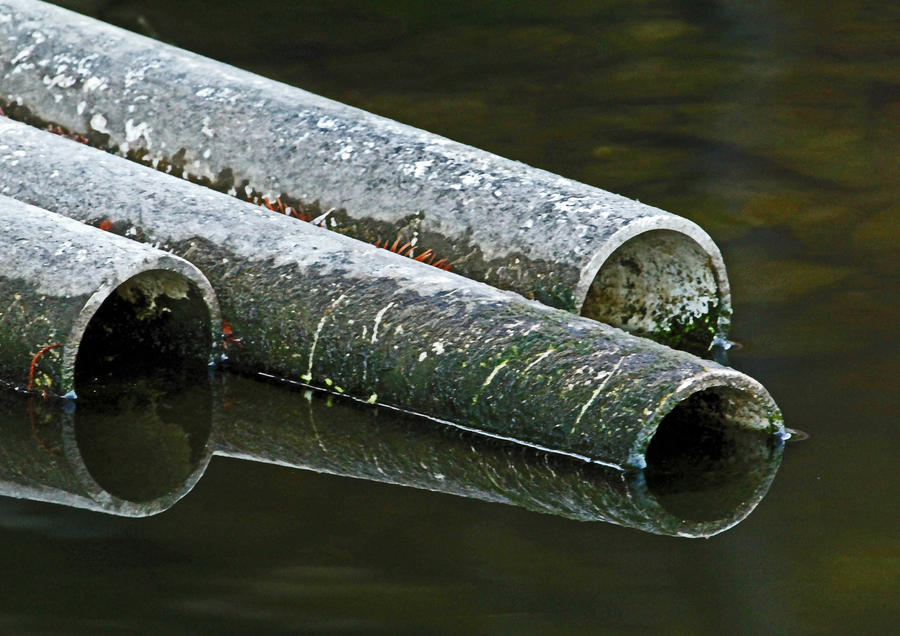 Pipes In the Water by Snowleopard59