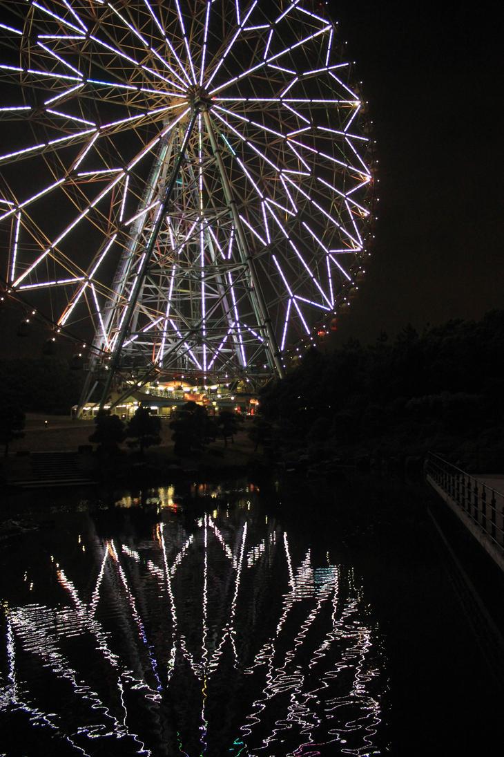 rinkai park in night by Kva-Kva