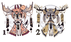 [CLOSED] adopts auction - Chibi -Wind Chime Demon by Polis-adopts
